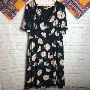 Loft floral summer short sleeve dress